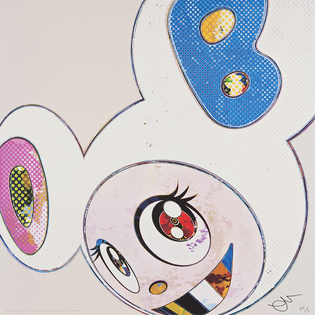Takashi Murakami, 'And then x 6 (White The Superflat Method, Pink and Blue Ears) ', 2013, Galerie Raphael
