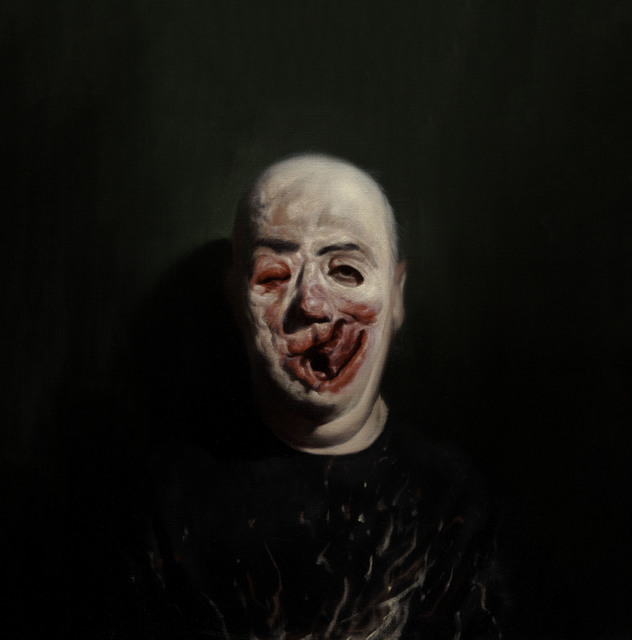 , 'Self Portrait (with Henry Tonks Mask) 1,' 2013, Flowers