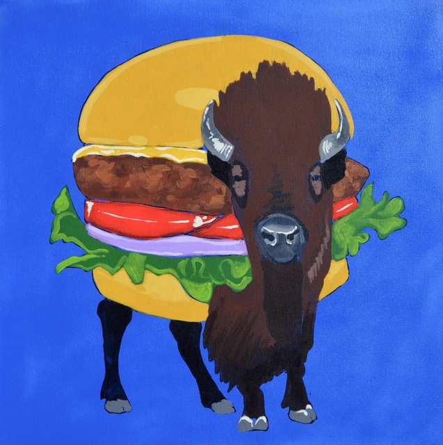 , 'FAST FOOD BISON BURGER,' 2017, Tansey Contemporary