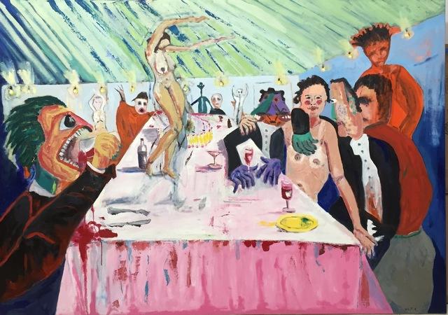 , 'Comanche Dinner II,' 2014, Paraphé