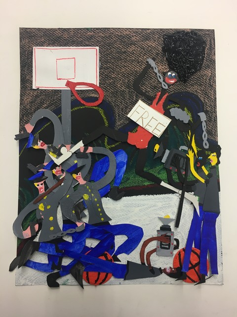 Devin Troy Strother, 'free at last, by my momma im gonna make this shot, cuz im free at last.', 2019, Josée Bienvenu