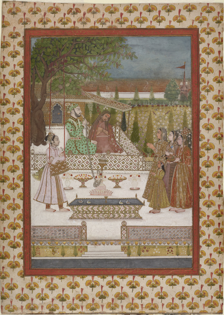, 'A prince visiting a female ascetic,' early 18th century, Princeton University Art Museum