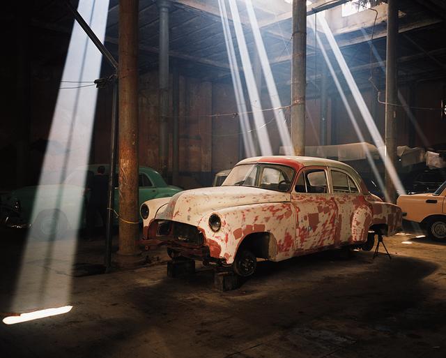 , 'Chevy in Garage at Calle Teniente Rey y Cuba, Havana ,' 2002, Wall Space Gallery