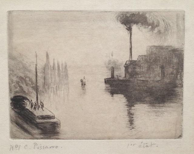 , ' L'île Lacroix, à Rouen,' 1887, Harris Schrank Fine Prints