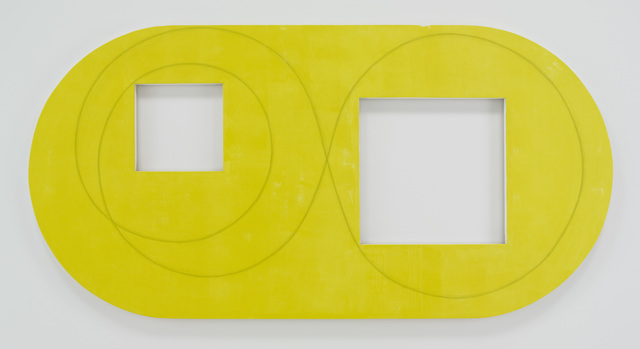 , 'Two Open Squares Within a Yellow Area,' 2016, Pace Gallery