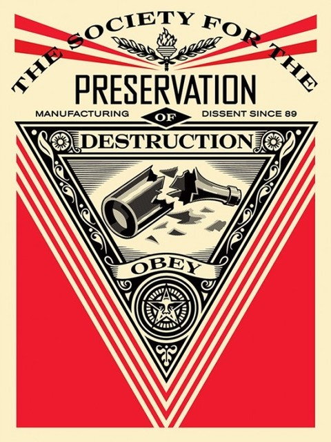 Shepard Fairey, 'Society of Destruction', 2015, Black Book Gallery