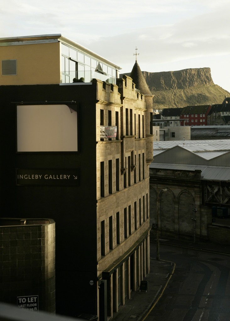 Installation view of Ceal Floyer 'Corner', 2010 13.3ft x 10ft billboard installation 26 November 2009 - 31 January 2010