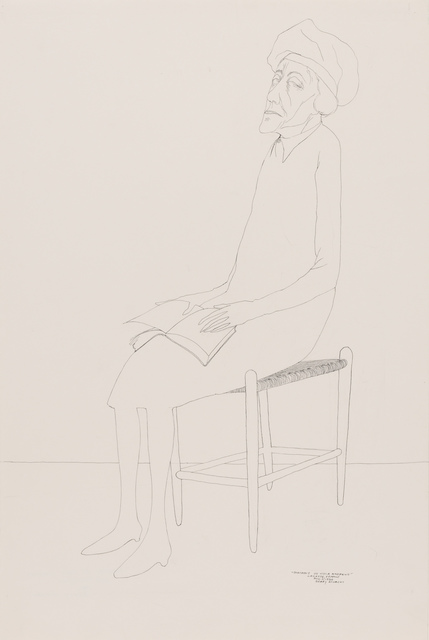 Benny Andrews, 'Portrait of Viola Andrews', 1986, Drawing, Collage or other Work on Paper, Ink on paper, Doyle