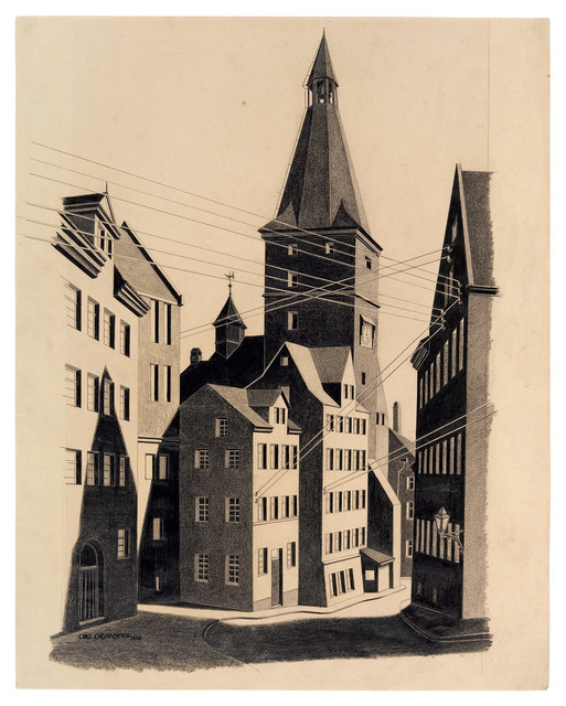 , 'Straße mit Kirchturm,' 1926, Galerie Michael Hasenclever KG