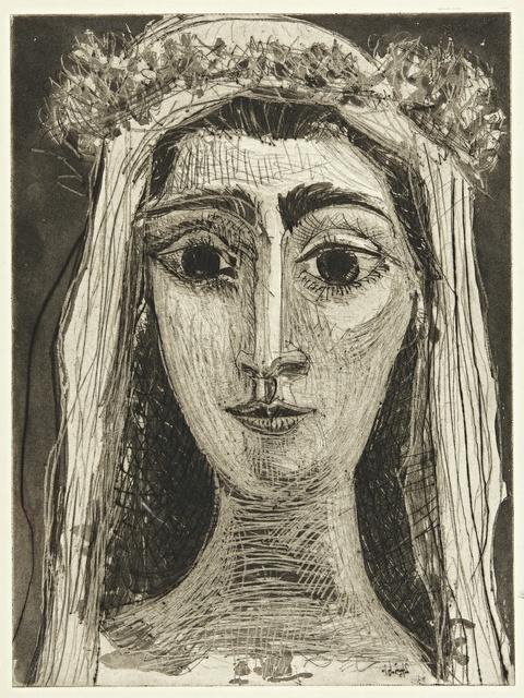 Pablo Picasso, 'Jacqueline en mariée, de face. I (Ba. 1089)', 1961, Sotheby's