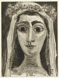 Jacqueline en mariée, de face. I (Ba. 1089)