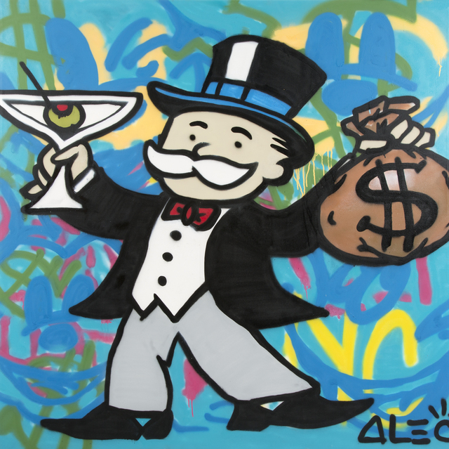 Alec Monopoly, 'Martini Monopoly', 2013, Mixed Media, Aersol & mixed media on canvas, Julien's Auctions