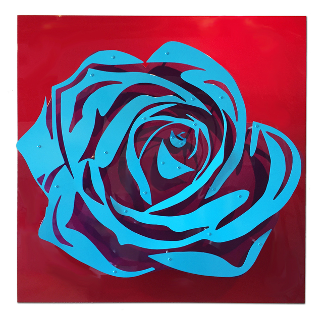 , 'Candy Rose - Blue on Red,' 2017, FP Contemporary