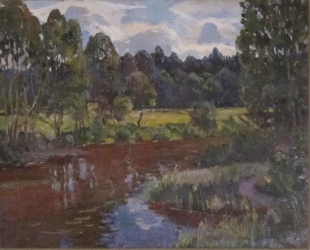 German Alexeevich Tatarinov, 'Summer Stream and Flowers', ca. 1990, Janus Galleries