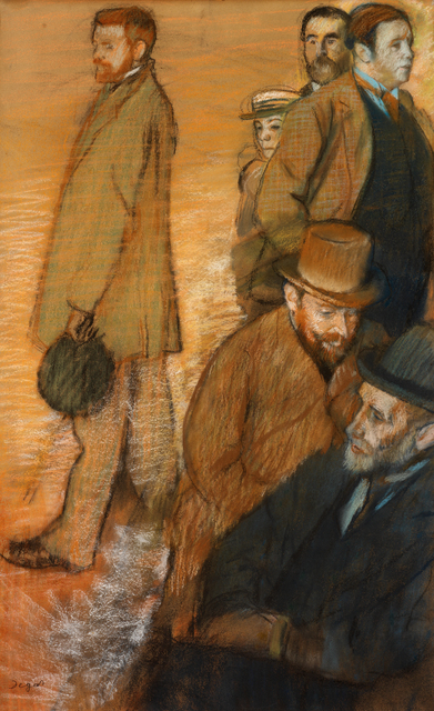 Edgar Degas, 'Six Friends at Dieppe', 1885, RISD Museum
