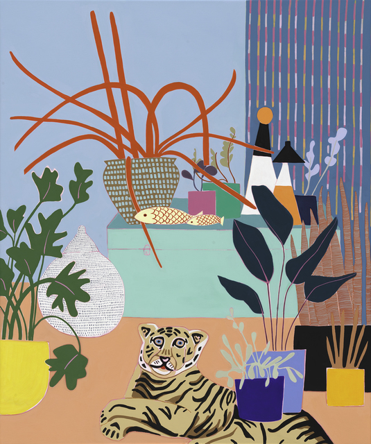 Mary Finlayson, 'Blue Box with Spider Plant',  , JoAnne Artman Gallery