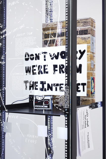 , 'Modded Server Rack Display with Hack Change (detail),' 2015, Serpentine Galleries