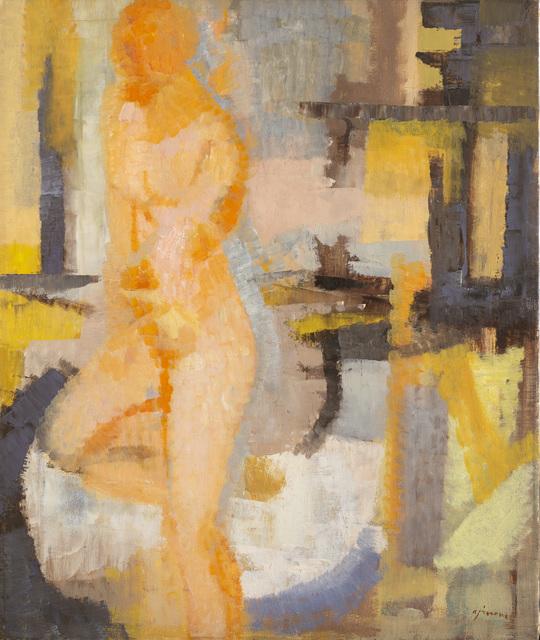 Giuseppe Ajmone, 'Untitled (Nudo)', 1956, Painting, Oil on canvas, Il Ponte