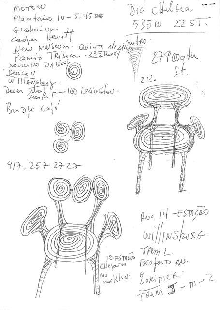 , 'Desenho Cadeiras (duas folhas grampeadas),' , Baró Galeria