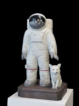 , 'Spaceman with Fox,' 2018, Galerie Barbara von Stechow