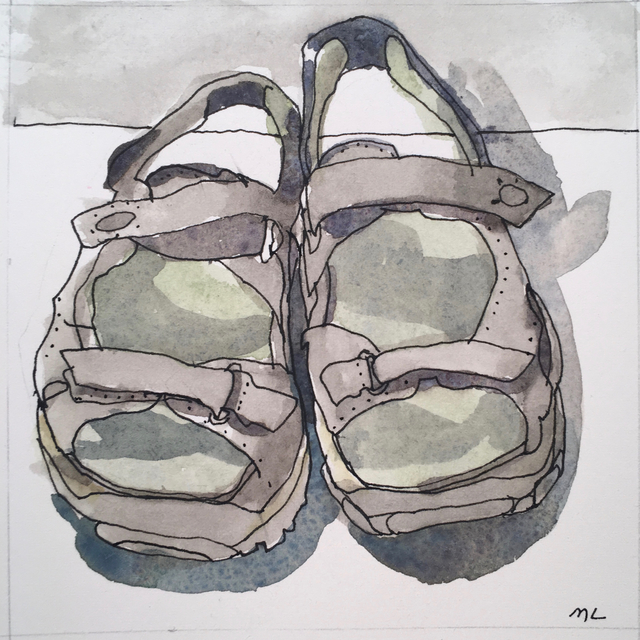 , 'Sandals,' 2017, Clyde Hogan Fine Art