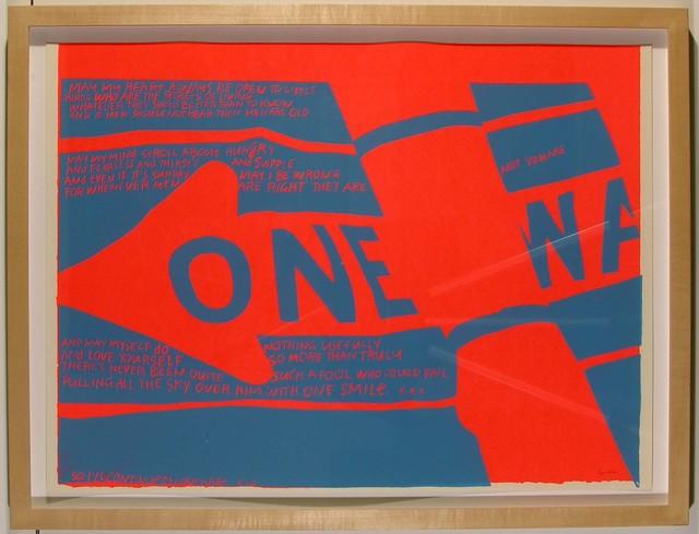Corita Kent, 'one way', 1967, Feuer/Mesler