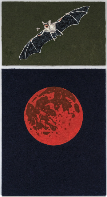 , 'Bloody moon / Bat,' 2017, Hans Alf Gallery