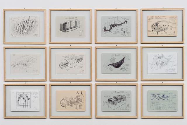 , '24 Framed Drawings (Detail),' 1990-2000, Rockbund Art Museum