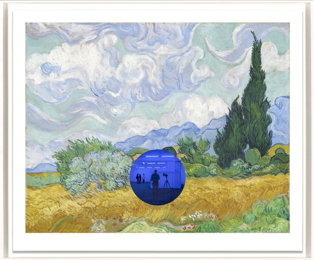, 'Gazing Ball (van Gogh Wheatfield with Cypresses),' 2017, David Benrimon Fine Art