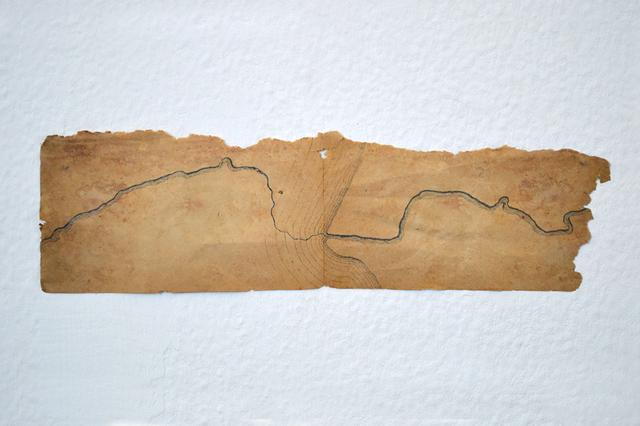 , 'Reorrido del río (Tevere) unido por su nacimiento y desembocadora,' 2016, Marta Moriarty