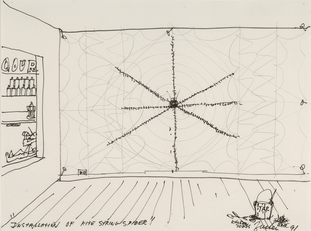 , 'Installation of Kite String Spider,' 1991, Parrish Art Museum