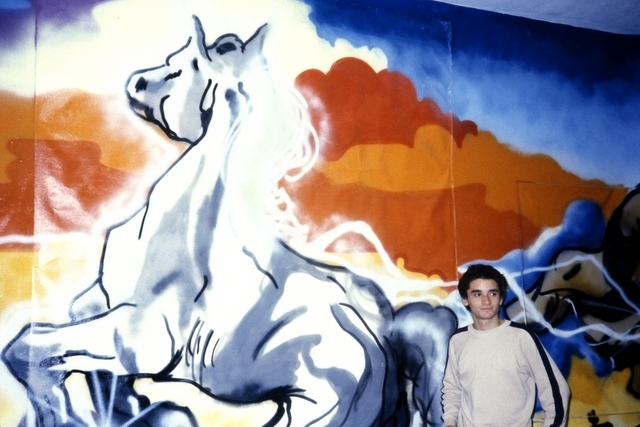 , 'LEE with Horse Painting at White Columns, New York,' 1980, P.P.O.W
