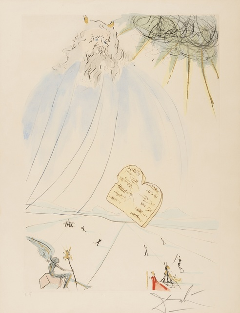 Salvador Dalí, 'Moses (from Our Historical Heritage) (M & L 760; Field 75-4-C)', 1975, Forum Auctions