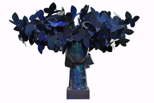 , 'Blue Butterflies,' 2016, Opera Gallery