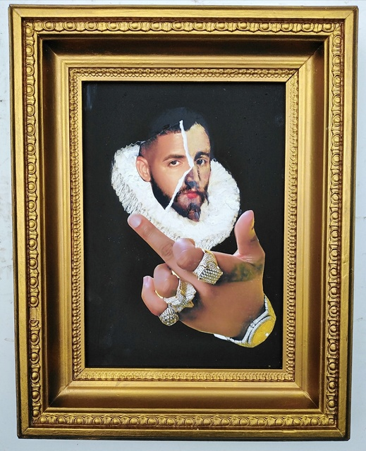 , 'Portrait of a young man by El Greco (1600), photobombed by Drake,' 2019, Contemporary Collective