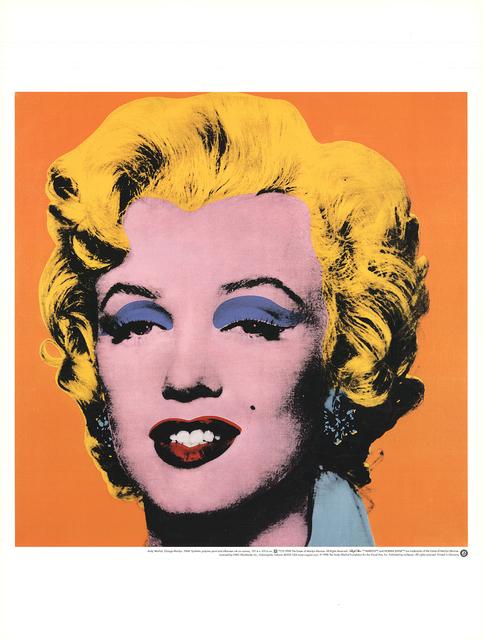 Andy Warhol, 'Marilyn, Orange Shot on White Background', 1998, Ephemera or Merchandise, Offset Lithograph, ArtWise
