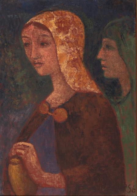 Paul Sérusier, 'Mary Madeleine et Saint-Jean', 1903, Painting, Oil on canvas (framed), Rago/Wright