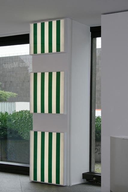 , 'Trois Caissons Lumineux Pour Un Mur,' 1989, Galerie Hans Mayer