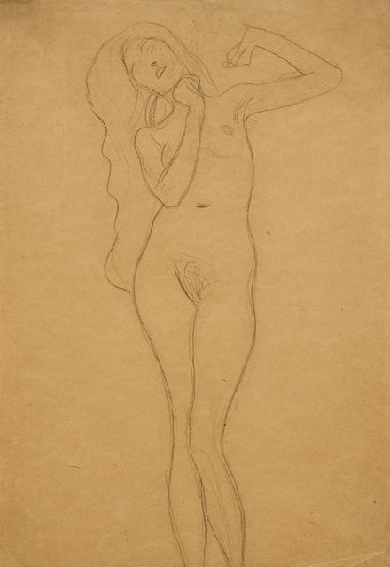 ", 'Study for the figure of ""Veritas"" in Jurisprudence,' ca. 1903, W&K - Wienerroither & Kohlbacher"