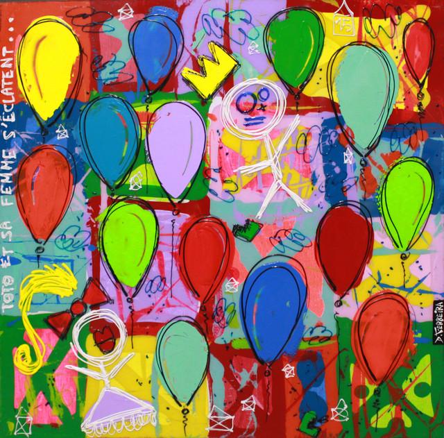 , 'Toto et sa Femme s'éclatent,' 2016, Art Life Gallery