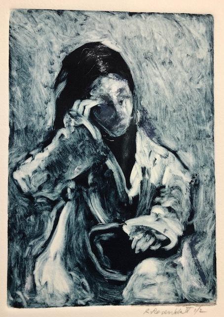 Richard Rosenblatt, 'Girl Resting', 2019, Print, Monotype, The Galleries at Salmagundi