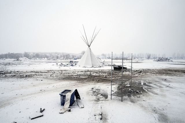 , 'Oceti Sakowin Camp the day the inhabitants were told to evacuate.,' 2017, Magnum Photos