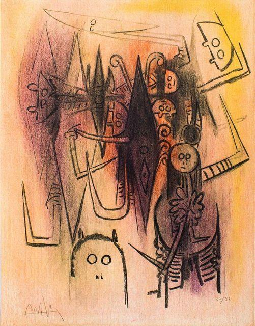 ", 'Clairière - from the suite ""Pleni Luna"",' 1974, Wallector"