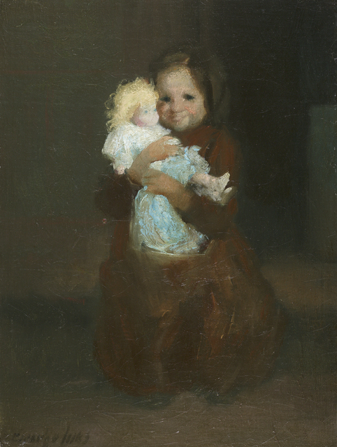 , 'Child with Doll,' ca. 1905, Debra Force Fine Art