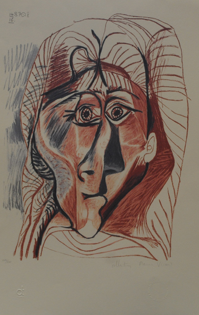 Pablo Picasso, 'Visage de Femme de Face', 1979-1981, Golden Eagle Art Gallery