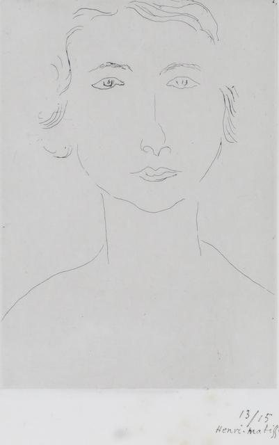 Henri Matisse, 'Jeune Polonaise', ca. 1917, Bernard Jacobson Gallery