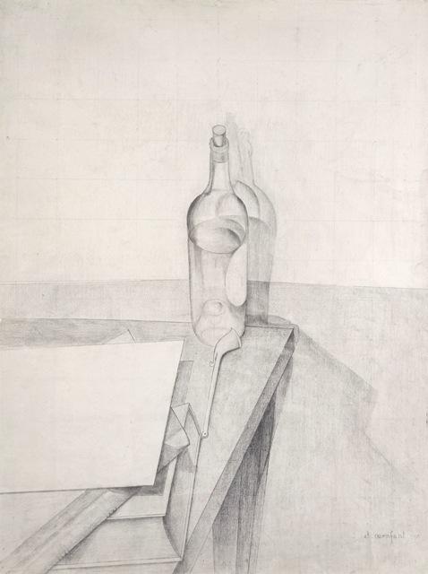 , 'Table, pipe, livre, bouteille, papier,' 1917, Galerie Zlotowski
