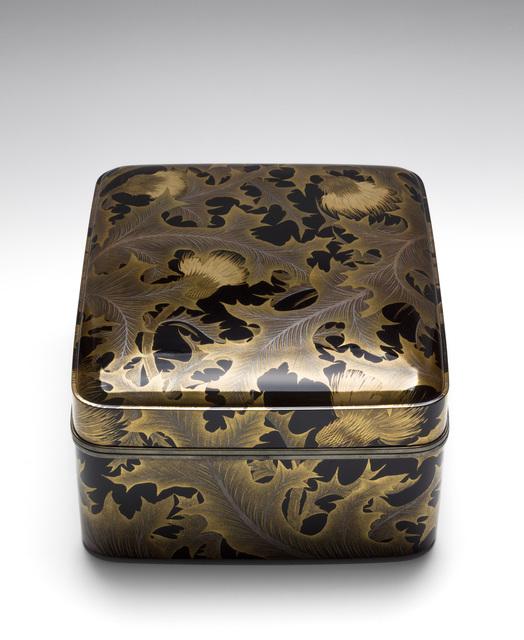 , 'Accessory Box with Thistles (T-4182),' Taisho (1912, 1926) or Showa (1926, 1989), Erik Thomsen