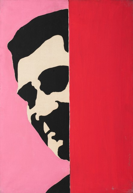 Sergio Lombardo, 'Plinio's portrait', 1965, Drawing, Collage or other Work on Paper, Enamel on canvas, Finarte