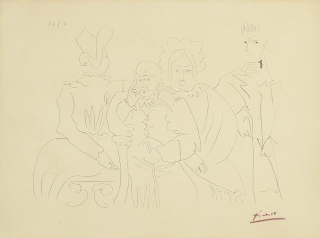 Pablo Picasso, 'Portrait de famille, quatre personnages dont trois assis', 1962, Christie's
